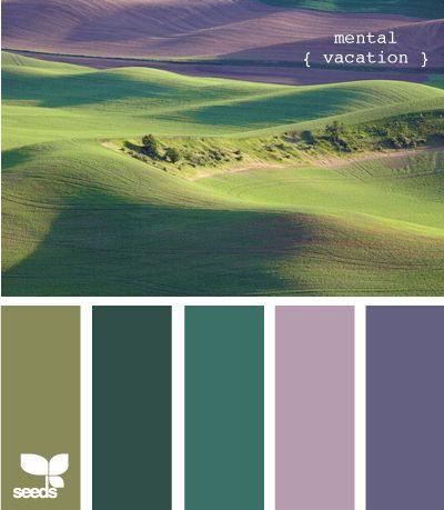 I like green and purple together