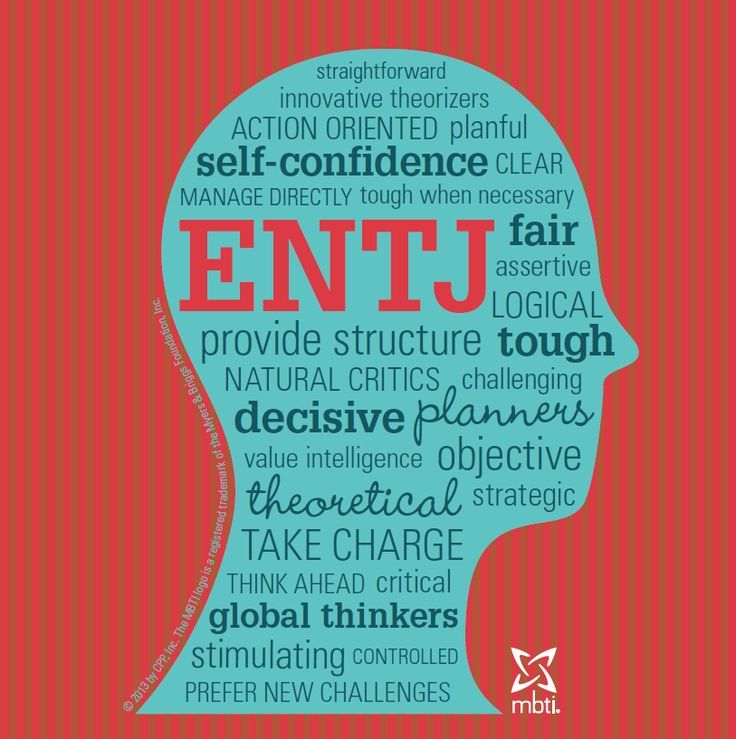 Check out this ENTJ type head of Personality Characteristics!