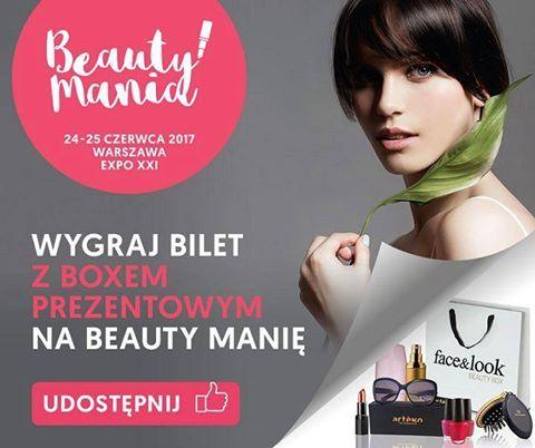 Nasz kolejny patron Moda na Urodę ma dla Was bilety na Beauty Manię. #Konkurs!  Zabierz znajomych na Beauty Manię! Wygraj 5 podwójnych Beauty Boxów (pełnowartościowe kosmetyki, okulary przeciwsłoneczne, szczotka do włosów), razem z podwójnymi biletami na to wyjątkowe wydarzenie!... zobacz więcej: …/konkurs__wygraj_bilety_na_beau.html Zobacz więcej