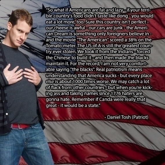 Daniel Tosh. Freedom. Understanding our America.