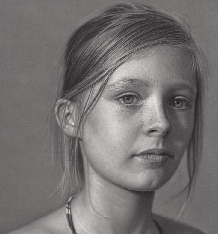Realistic Pencil Drawing ... Yes, it's a DRAWING ... by hyperrealist artist Dirk Dzimirsky, whose detailed work resembles photographs.