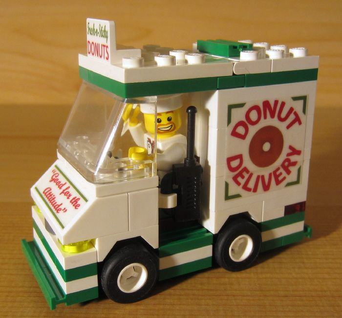 .Who has a Donut dlivery truck