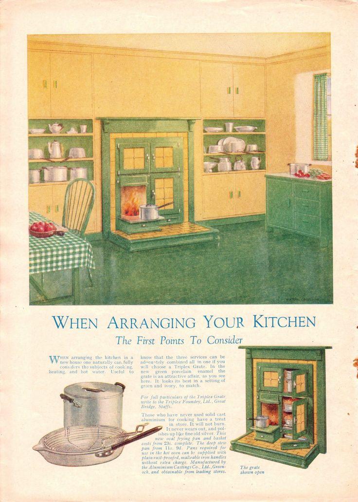 69 best 1930s kitchen images on pinterest   dream kitchens, 1930s