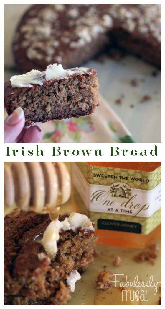 Rustic and hearty, you'll love this Irish Brown Bread served warm with butter and honey.