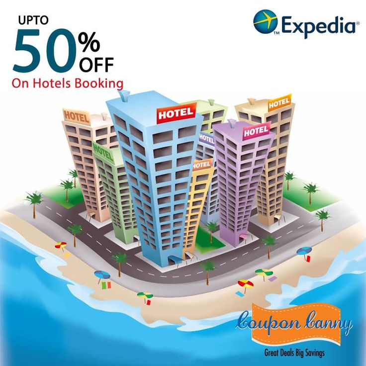 Upto 50% off on #Hotels Booking at #Expedia Claim Now : http://www.couponcanny.in/expedia-coupons/