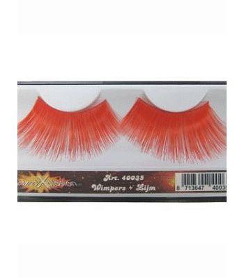 Feest nep wimpers in het rood  Grote rode nepwimpers. Mooie grote wimpers om je outfit compleet mee te maken. De wimpers zijn te bevestigen met wimperlijm. De wimpers zijn inclusief wimperlijm.  EUR 4.75  Meer informatie