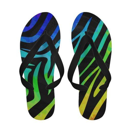 19 Best Zebra Print Flip Flops Images On Pinterest  Zebra Print, Flipping And Beach Sandals-4374