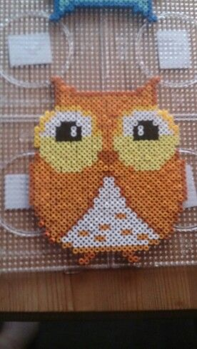 Owl hama perler beads by Susanne Damgård Sørensen - Pattern: http://de.pinterest.com/pin/374291419006464428/