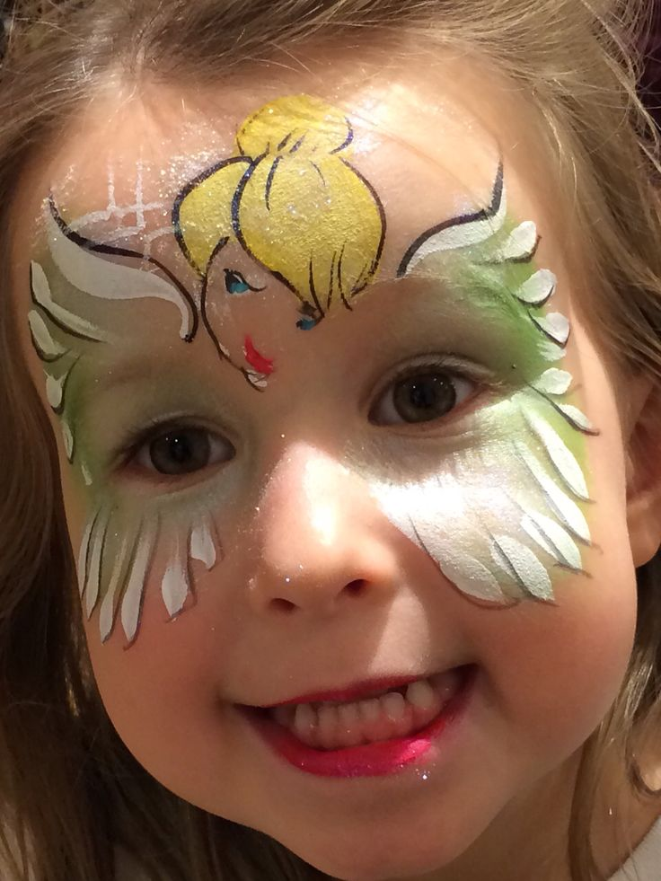 Tinkerbell face painting