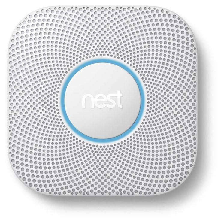 Nest Protect Battery-Powered 2-Volt Photoelectric Sensor Smoke Detector