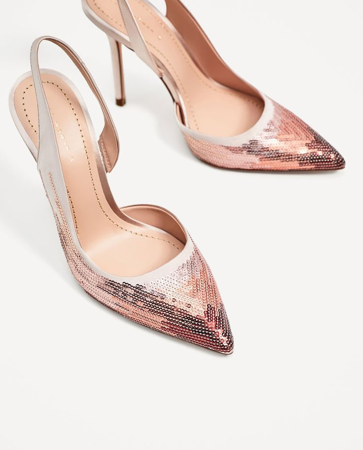 SEQUINNED HIGH HEEL SLINGBACK SHOES-View all-SHOES-WOMAN | ZARA United States