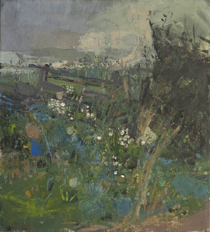 JOAN EARDLEY - Flowers by the Wayside, Oil on canvas, 24 x 22 ins.