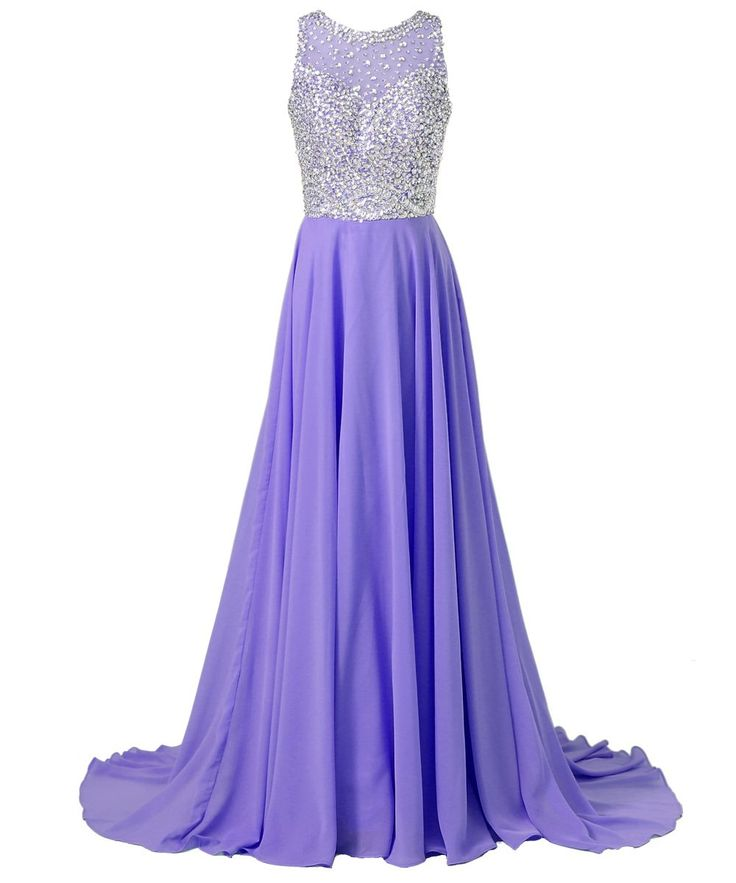 Callmelady Sheer Neck Prom Dresses 2016 Long Formal Evening Dresses for Women (Violet, US6): Amazon.ca: Clothing & Accessories