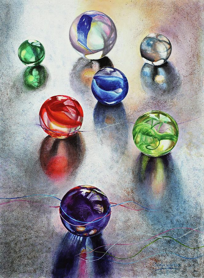 drawings of glass marbles - Google Search
