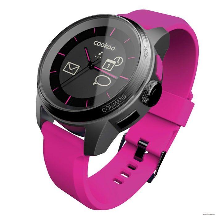 COOKOO Watch ροζ, Bluetooth ρολόι χειρός.