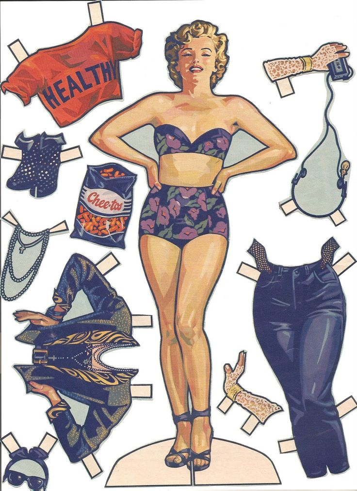 Mostly Paper Dolls: Marilyn Monroe Paper Doll, Life Magazine 1986