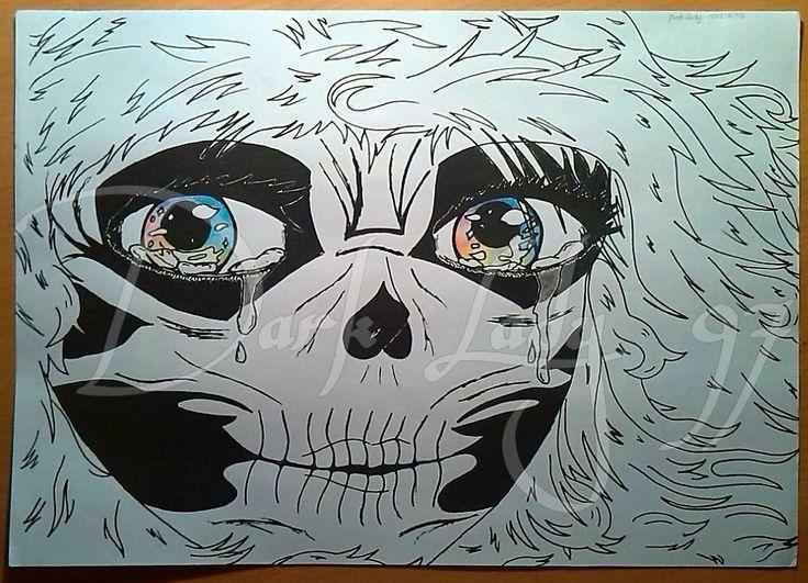 rainbow eyes skeletron girl anime by Chiara Rigoni // Dark Lady 97