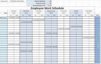employee work schedule template sample schedules pinterest templates and schedule templates. Black Bedroom Furniture Sets. Home Design Ideas