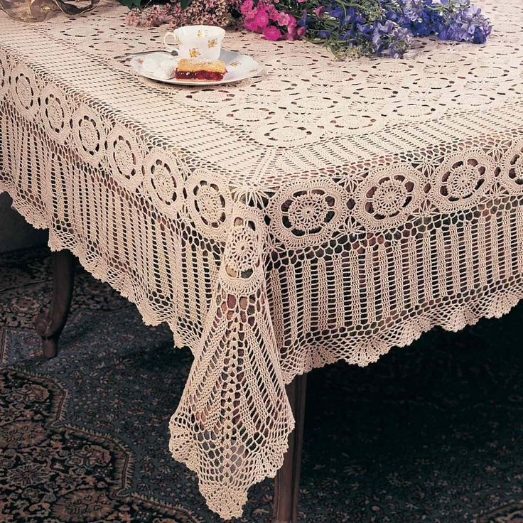 Crochet Table Cloths from Table Cloth Center (TCC) on Amazon
