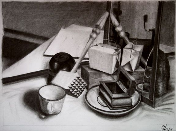 tonal still life drawing - Google Search