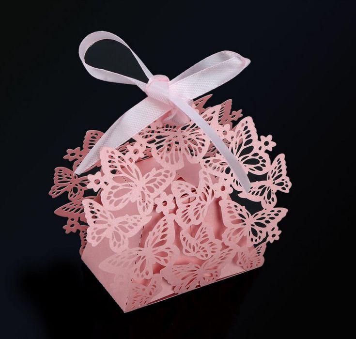 Купить товар50 шт. романтический свадебный ну вечеринку декор бабочка DIY конфеты печенье подарочные коробки пакеты свадебный день рождения коробка конфет с лентой 5 цветов в категории События и праздничные атрибутына AliExpress.        Обратите внимание --- как заказ               Способ доставки:            Нет идентификационный номер       Для м