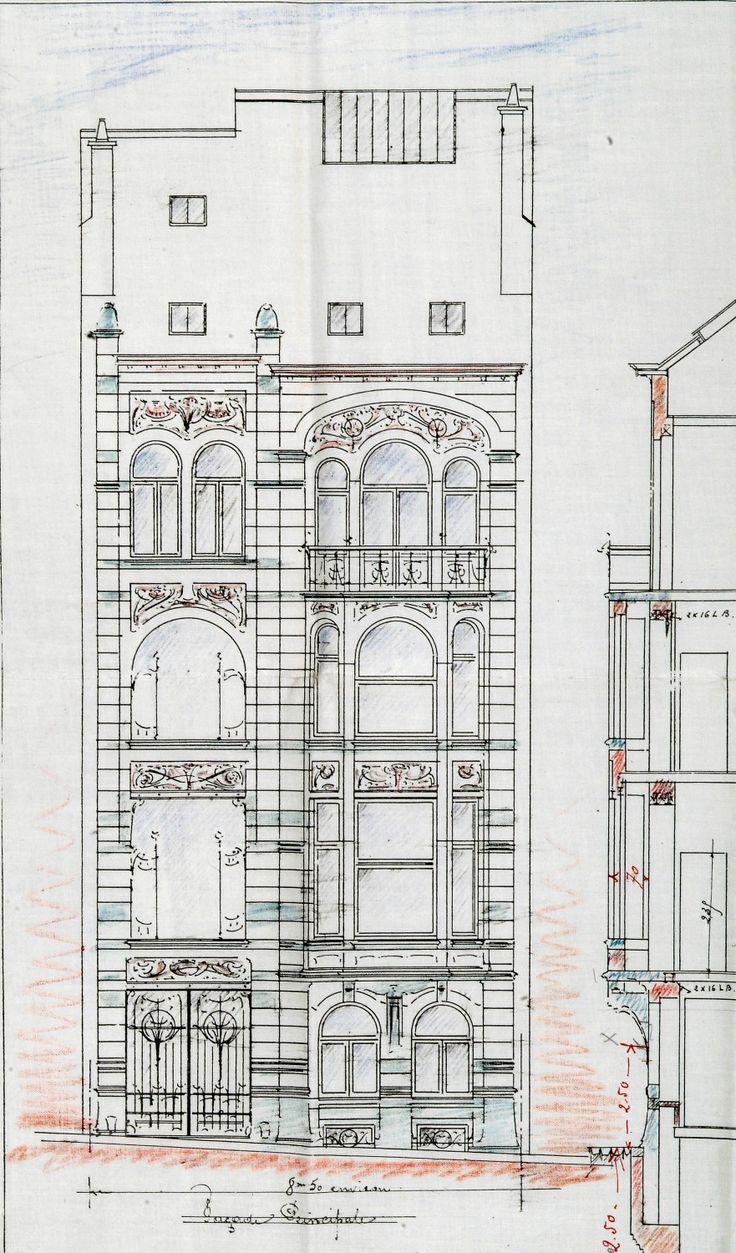 Ixelles - Rue Washington 127 - STRAUVEN Gustave