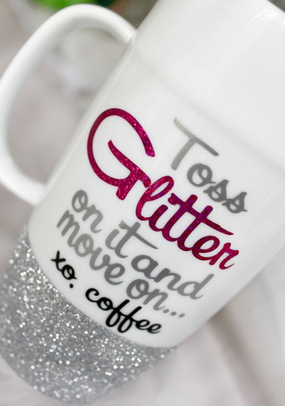 Glitter Coffee Mug  Best Friend Mug  Funny by MonogramRevolution