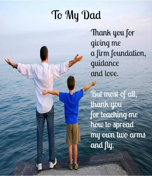Father's Day Message from Son to Father #Fathers #Father's Day...