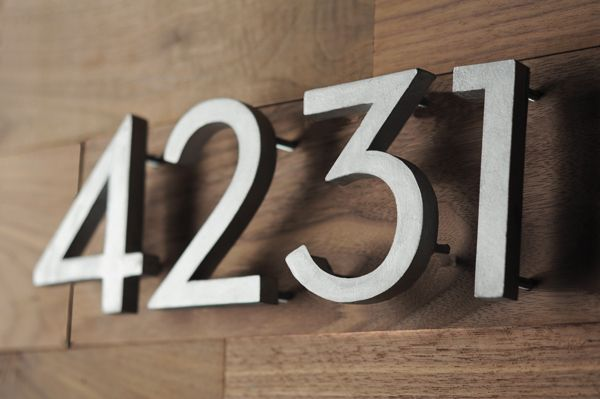 Weekend Project: How to Make DIY Modern House Numbers | Man Made DIY | Crafts for Men | Keywords: mid-century, typography, decor, DIY