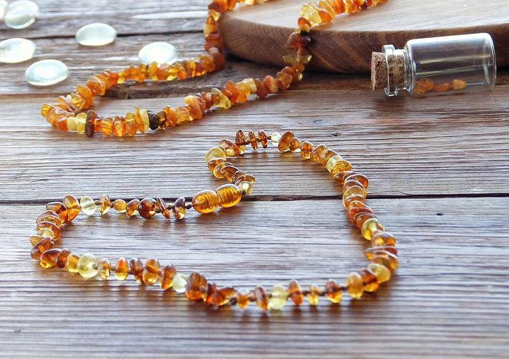 Янтарное ожерелье, янтарные бусы  для прорезывания зубов у ребёнка. Балтийский янтарь.   Amber