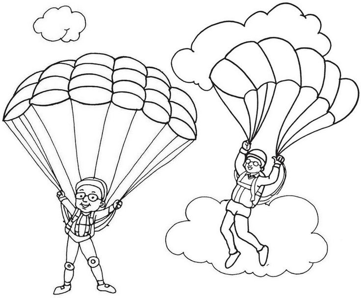 Pin oleh Illustration Designer di Parachute Coloring Pages