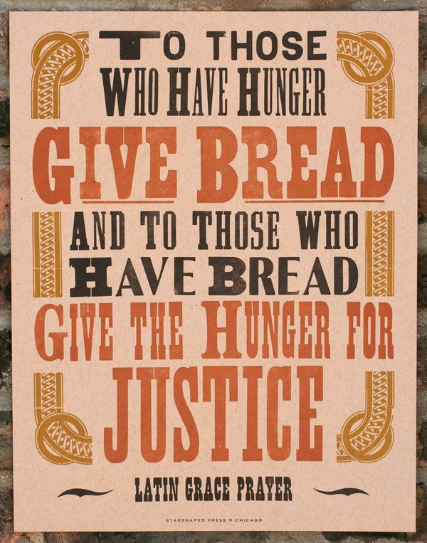 Amen.: Prayer, Justice, The Hunger, Letterpresses Prints, Quotes, Letterpresses Poster, Art Prints, Breads Letterpresses, Starshap Press