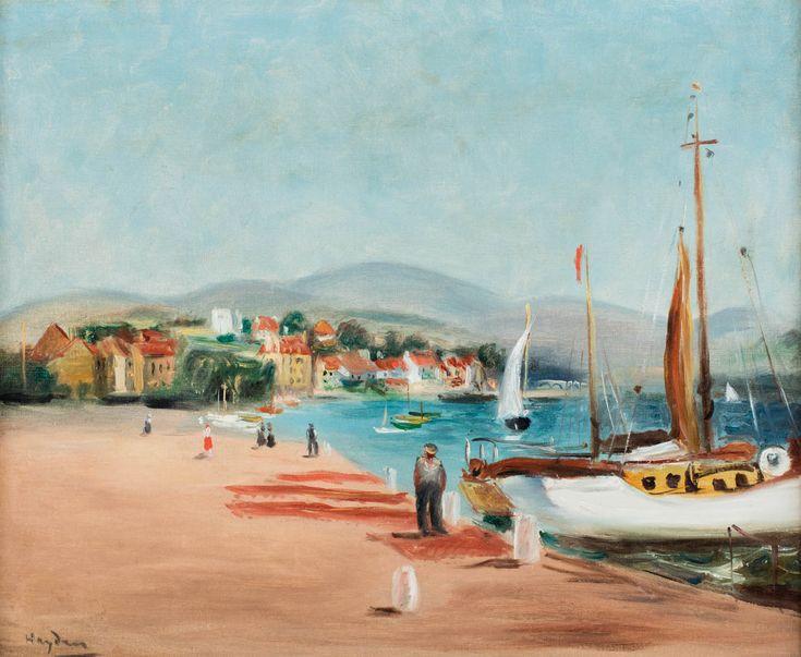 HENRYK HAYDEN (1883 - 1970)  PORT W POŁUDNIOWEJ FRANCJI   olej, płótno / 38,5 x 46,5 cm  sygn. l.d.: Hayden