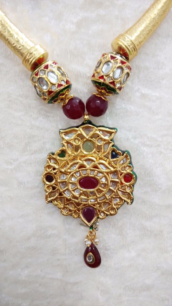 Indian Necklace Set Bollywood Style Kundan Studded Gold Plated Traditional  #SparshJewels