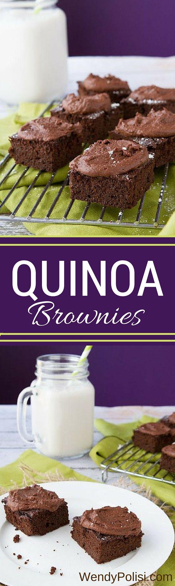 brownies fudgy quinoa brownies double chocolate cherry quinoa brownies ...