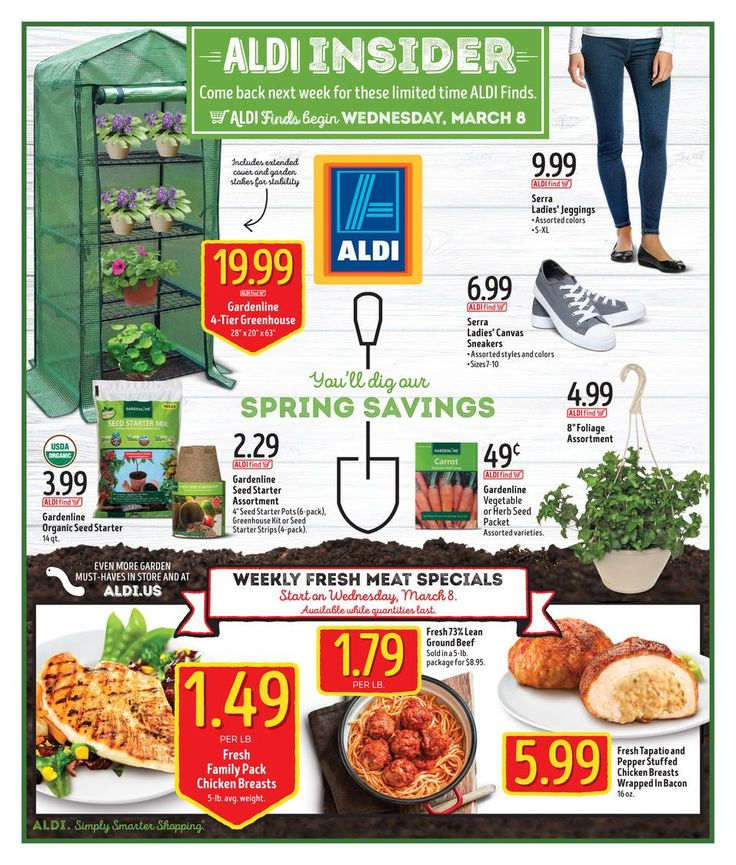ALDI USA Weekly In Store Ad Circular Mar 8 - 14 United States #grocery #Aldi #USA