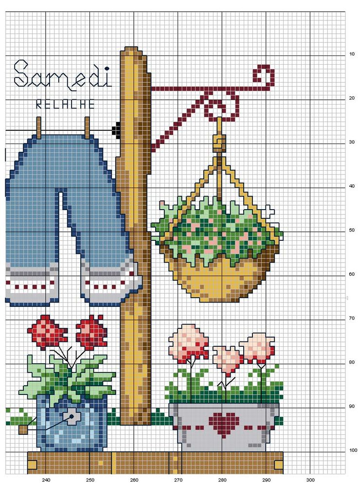 Schematic cross stitch Dresses 4
