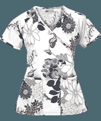 Print Scrub Tops, Print Scrubs and Medical Uniform Tops by UAScrubs