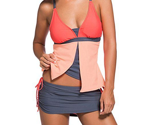 F&Q Real Colorblock Tankini Skort Bottom Swimsuit Style: brief, sexyOccasion: summer, beachPattern: color blockPackage Contents: 1 x top, 1 x bottomPad: with padded  7 for all mankind, Bottom, calvin jeans, Colorblock, Diesel, dl1961, FQ, g-star, guess jeans, Hollister, Hudson, hudson jeans, j brand, levi, lucky brand, paige jeans, pepe jeans, Real, Skort, Superdry, Swimsuit, Tankini, true religion