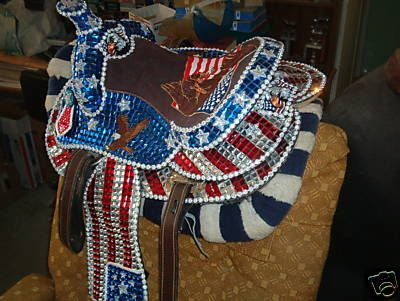 GASP!!! My perfect parade saddle! Minus the flag on the seat. Would put something else there.