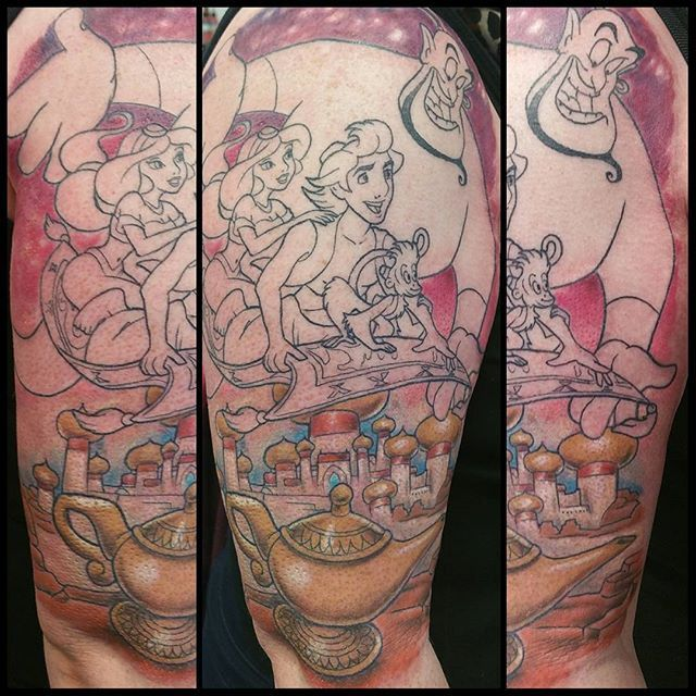17 best ideas about aladdin tattoo on pinterest city for Aladin tattoo salon