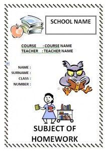 İngilizce ödev kapakları indir word