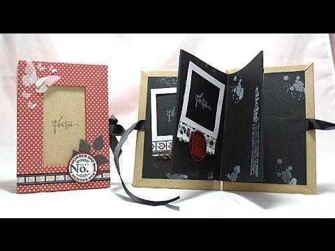 Scrapbooking mini album laurea tutorial-idea regalo-cartonaggio tutorial - YouTube