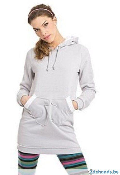 Grijze jurk / lange trui van Pussy deluxe - Maat large