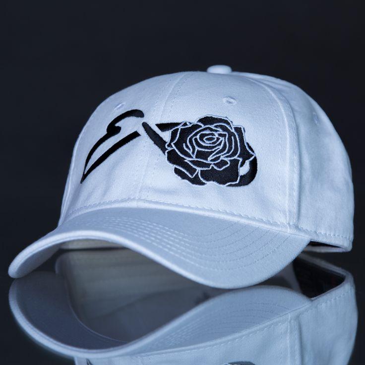 Eons Rose (Black) White Adjustable Cap