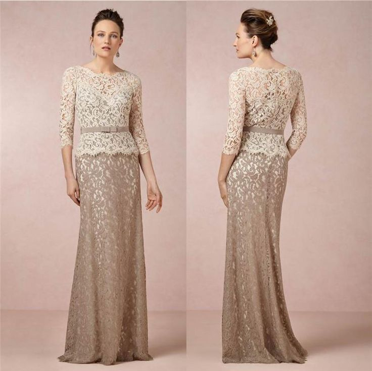 Long Bridesmaid Dresses Inspired Lace Vintage Plus Size Evening Online With