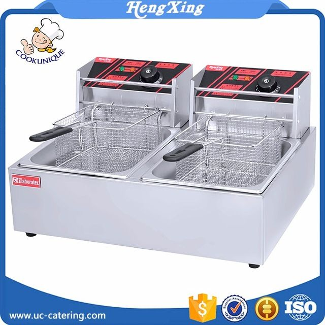 Source Professional CE Certificate freidora Kitchen Equipment Electric Gas Industrial Deep Fryer with 2 Tank on m.alibaba.com