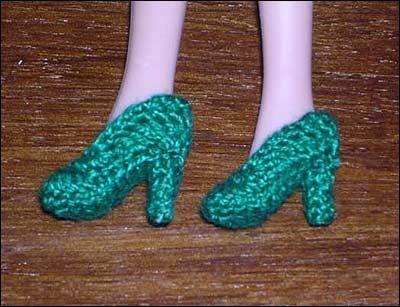 Обувь вязаная крючком для барби