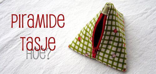 Piramide-tasje: leuk voor kleingeld, tutjes, ...