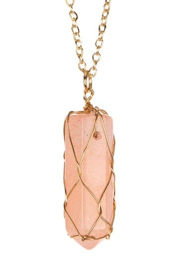 Gilded Cage Crystal Pendant Necklace by Meghan Fabulous on @HauteLook
